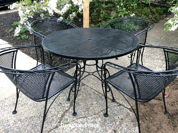 used wrought iron patio furniture outdoor melbourne australia YSGAFPQ