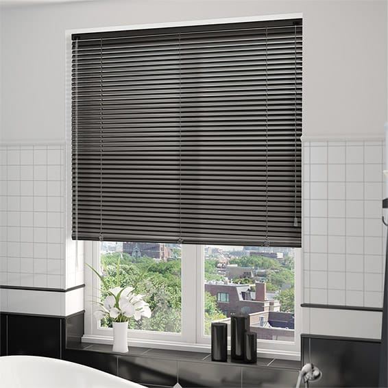 venetian blinds essence slate grey venetian blind - 25mm slat NMUPMJM
