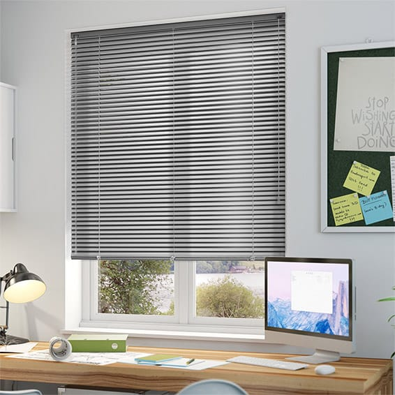 venetian blinds studio brushed silver venetian blind - 25mm slat YNTJQPH