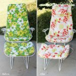 vintage patio furniture before u0026 after image THVWPXC