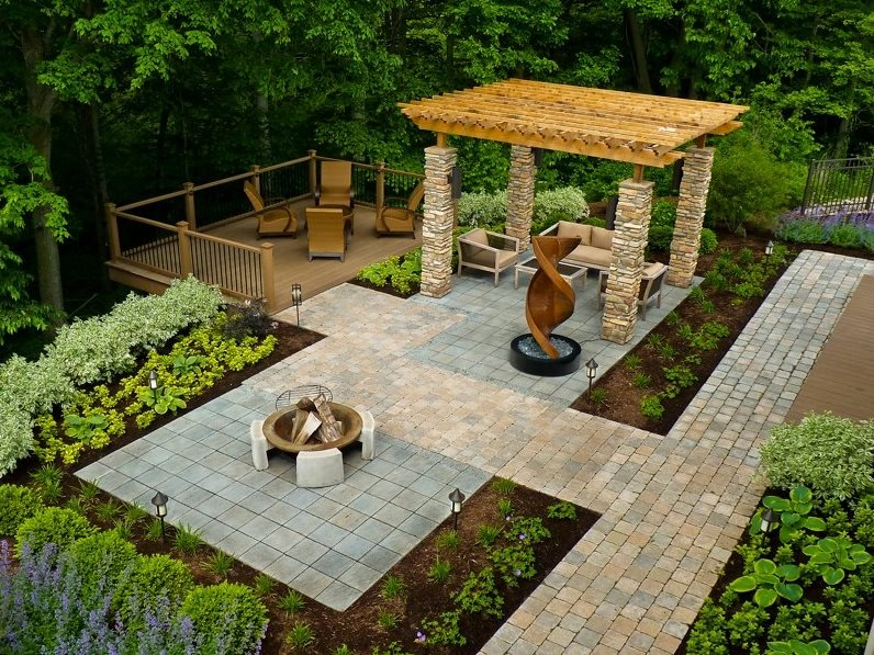 wheelchair accessible backyard backyard landscaping the cornerstone  landscape group fort wayne, OSWFDLS