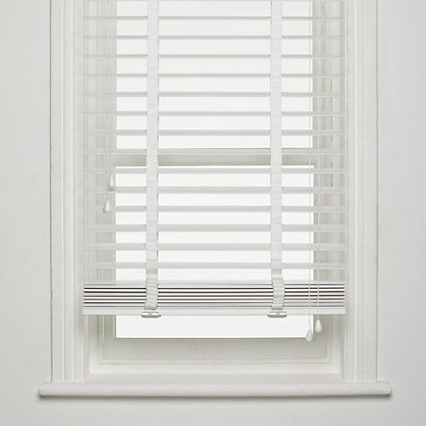 white wooden blinds buy john lewis fsc wooden venetian blinds, 50mm online at johnlewis.com RDUQYVZ