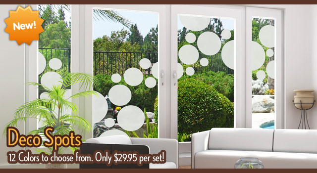 window decor deco spots static cling window film BBOYJOI