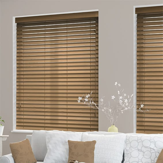 wooden blinds majestic oak faux wood blind - 50mm slat TVAUXWA