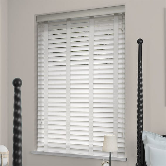 wooden blinds soft white u0026 linen wooden blind - 50mm slat HTRCCEQ