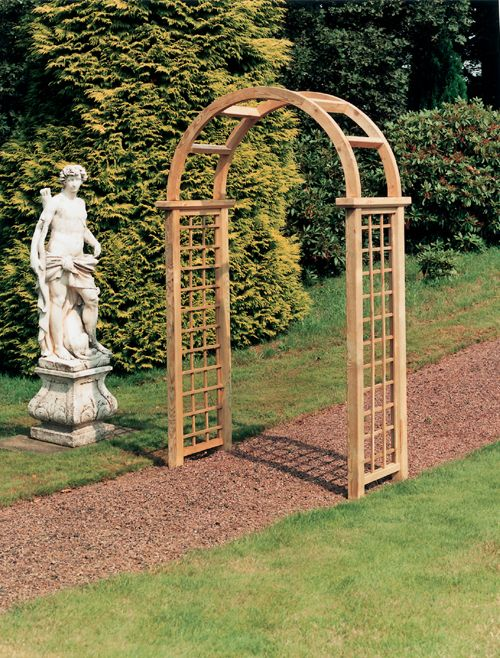 wooden garden arches the grange steepleford wooden garden