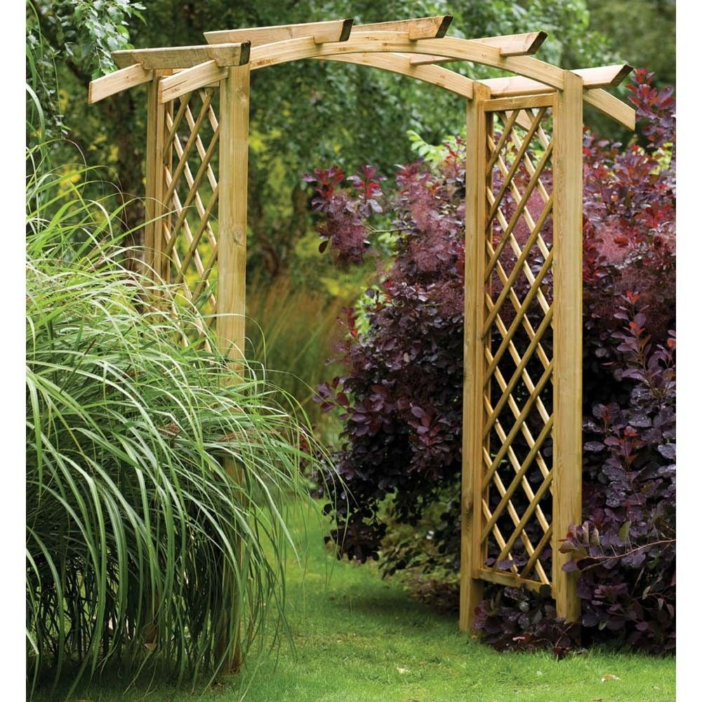 wooden garden arches this one is really nice