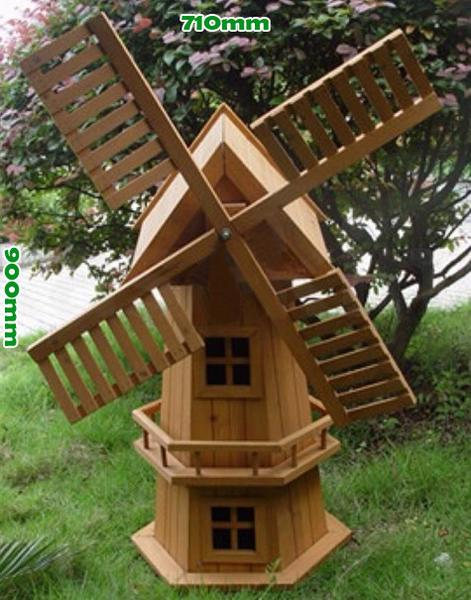 wooden garden windmill 900mm - garden windmills australia