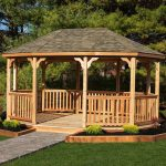 wooden gazebos wood gazebo handrail QDWJPYU