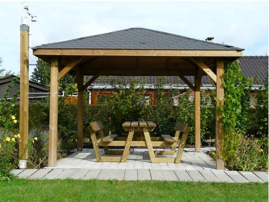 wooden gazebos wooden-gazebo image source: monamenagementjardin.fr OROVUDL