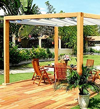 wooden pergola liveoutside roman pergola - classic rectangular wooden garden pergola with  retractable DIPYOMQ