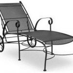 wrought iron furniture meadowcraft alexandria wrought iron chaise