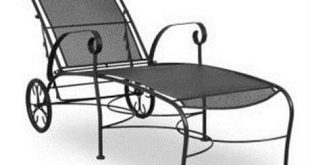 wrought iron furniture meadowcraft alexandria wrought iron chaise lounge CBWAMFK