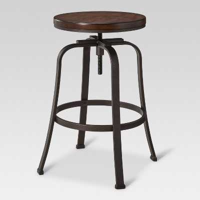 Dakota Adjustable Wood Seat Barstool - Threshold™ : Target