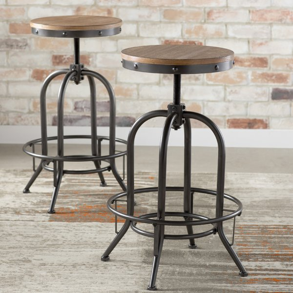 Empire Adjustable Height Swivel Bar Stool & Reviews | AllModern