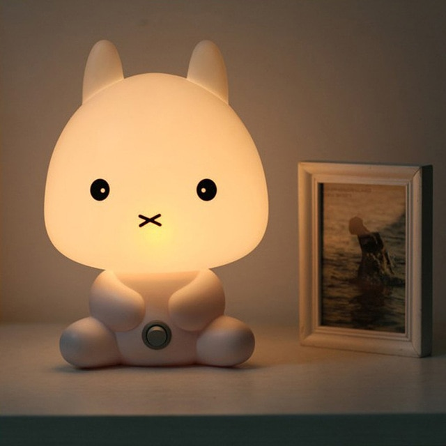NEW Baby Room Rabbit/Bear/Panda/Dog Cartoon Animal Night Light Warm