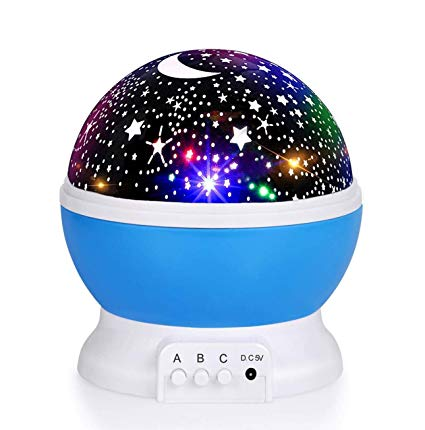 Luckkid Baby Night Light Moon Star Projector 360 Degree Rotation - 4
