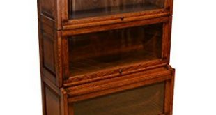 Amazon.com: Arts and Crafts Mission Oak 3 Stack Barrister Bookcase