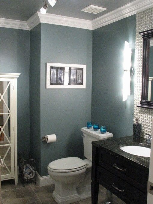 bathroom paint idea Benjamin Moore Smokestack Grey. love this color