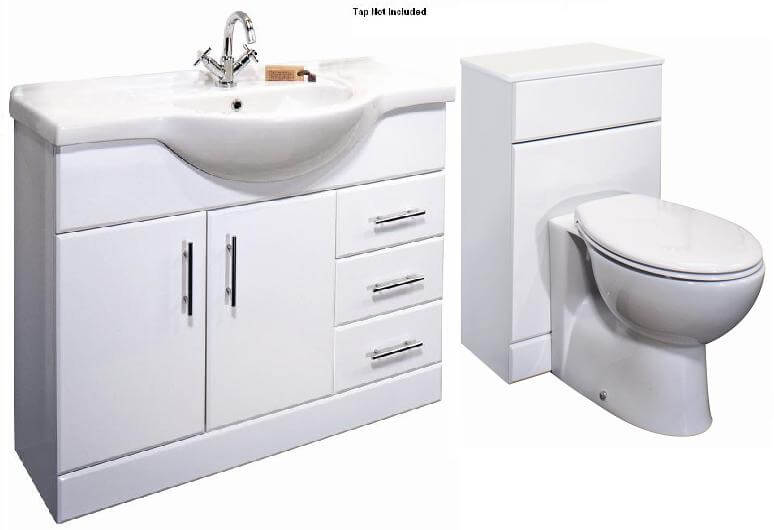 Premier Classic 1050mm Bathroom Vanity Unit & WC UNIT BTW Toilet