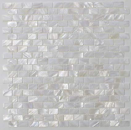 Amazon.com: White Mother of Pearl Tile Seashell Tile Kitchen