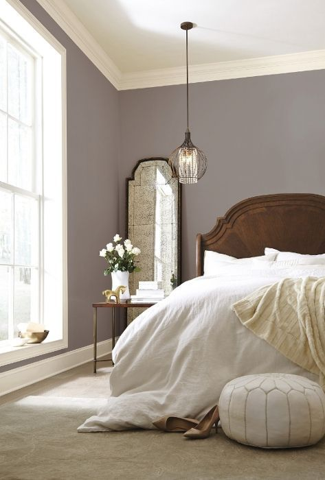 Sherwin Williams Poised Taupe: Color of the Year 2017 | Bedroom