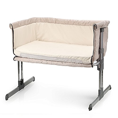 MiClassic Bedside Crib Travel Bassinet Easy Folding Adjustable