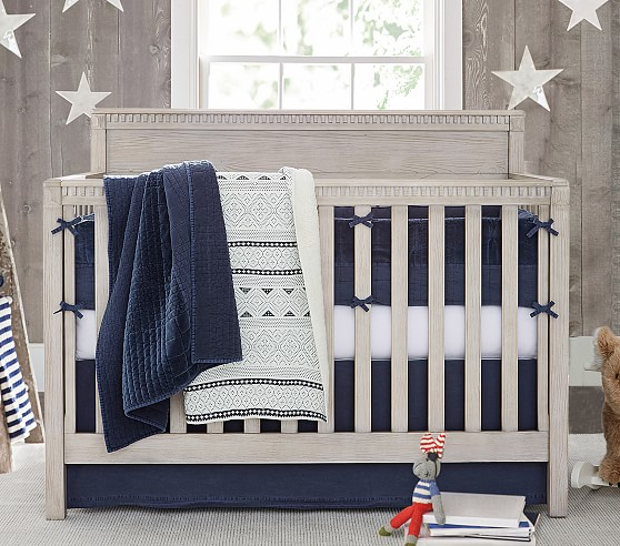 Reed Velvet Baby Bedding Sets | Pottery Barn Kids