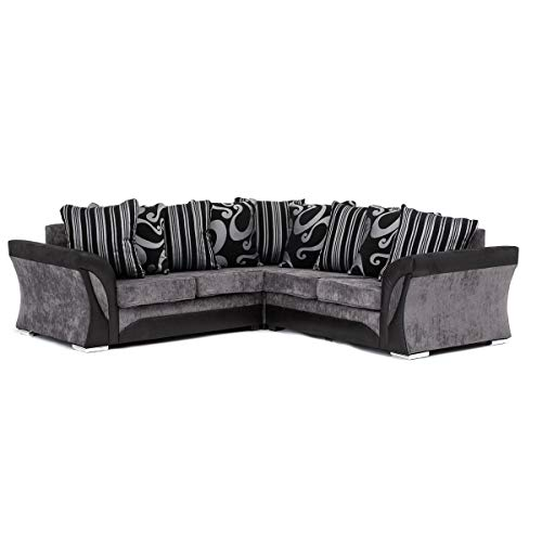 Black Corner Sofa: Amazon.co.uk