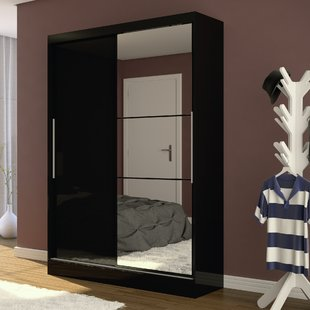 Sliding Black Wardrobe | Wayfair.co.uk