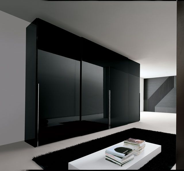 black wardrobe | Bedroom K | Wardrobe design bedroom, Bedroom