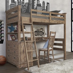 Bunk Beds With Desk Under | Wayfair