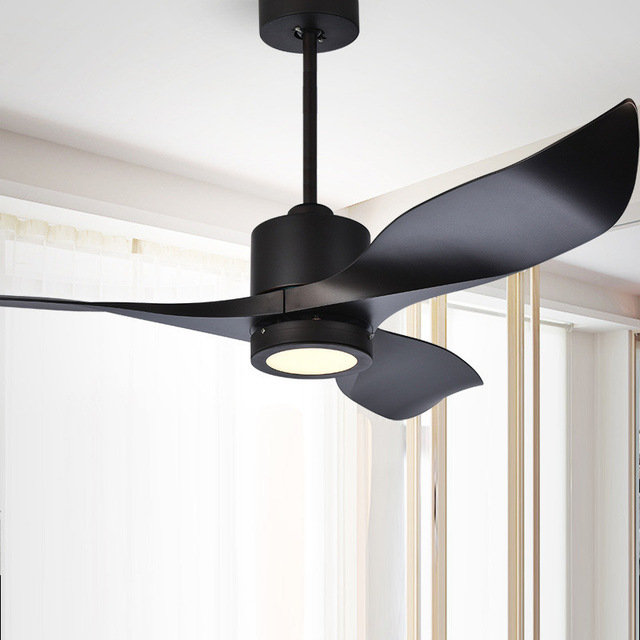 52 Inch Modern Nordic Led Ceiling Fan Light Art Living Room Dining