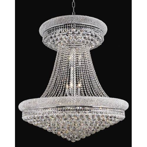 Elegant Lighting Primo Chrome Twenty Eight Light Chandelier With