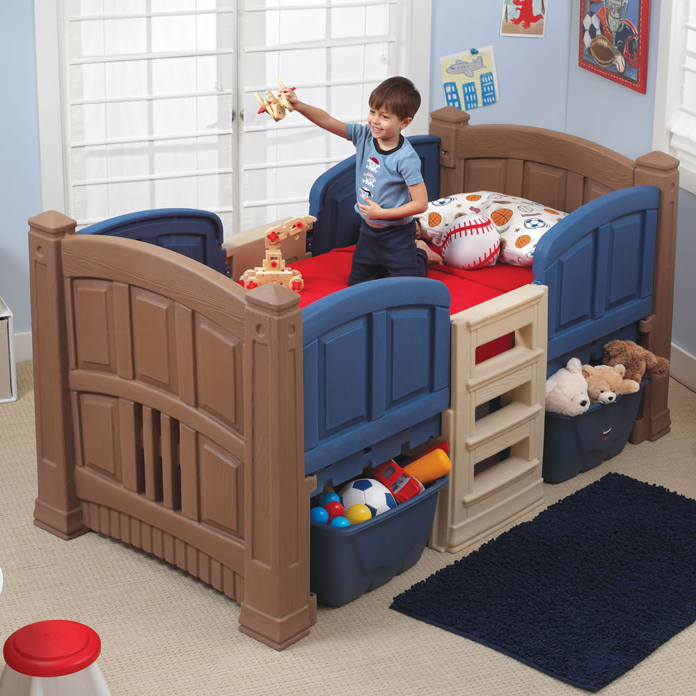 Boy's Loft & Storage Twin Bed | Kids Bed | Step2