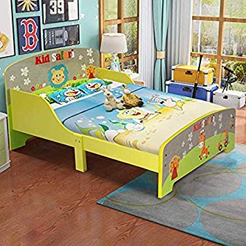 Amazon.com : Costzon Toddler Bed, Cute Lion Themed Wooden Bed Frame