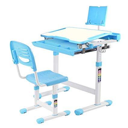 Amazon.com: IDEER LIFE Children's Desk and Chair Set, Height