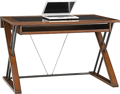Whalen® Astoria Computer Desk, Brown Cherry | Staples