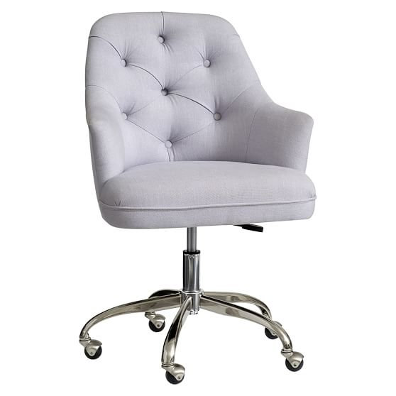 Twill Tufted Desk Chair | PBteen