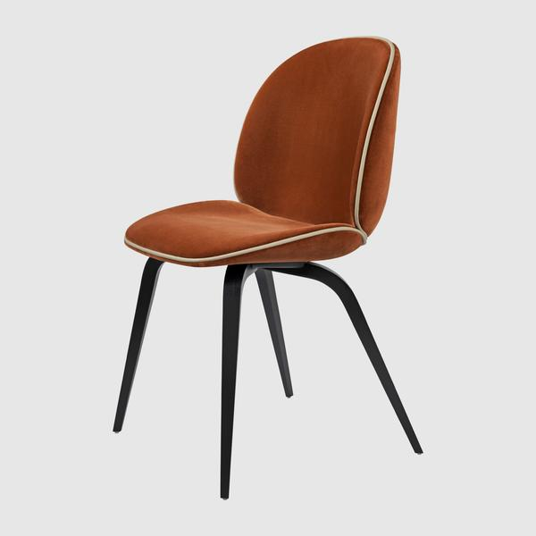 Beetle Dining Chair - Fully Upholstered - Wood base u2013 GUBI Webshop
