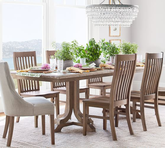 Linden Dining Table, Belgian Gray | Pottery Barn