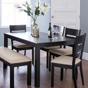 Montoya Dining Table Without Chairs - 6 Seater | Brown | Compressed Wood