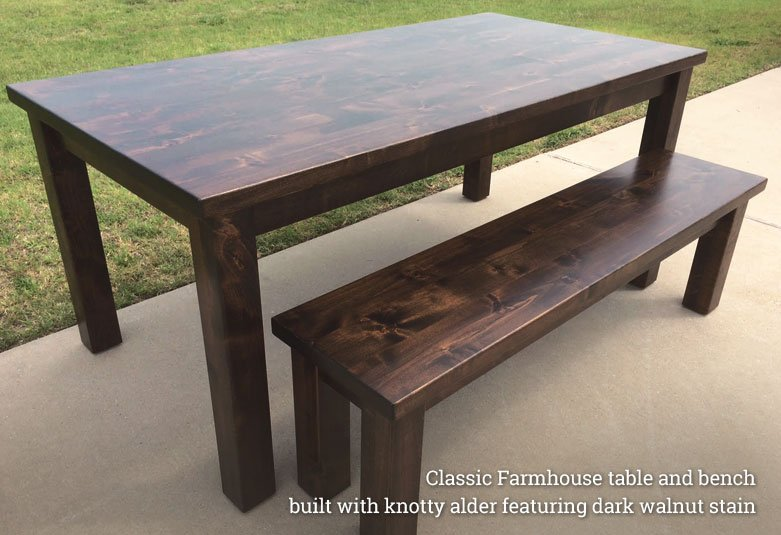 Classic Farmhouse Tables - Rustic + Modern Handcrafted Furniture