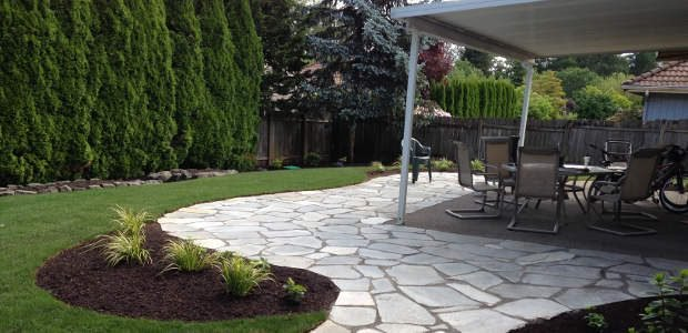 Laying a Flag stone Patio is a   very good option to enhance the outdoor beauty