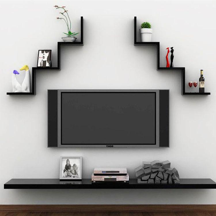 Fosa 3 Colors Creative Floating Wall Shelf Rack Hanging Bookshelf