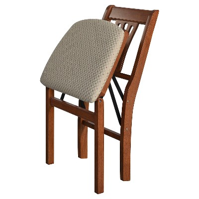 Stakmore Folding Chair With Blush Seat - Cherry (Set Of 2)® : Target