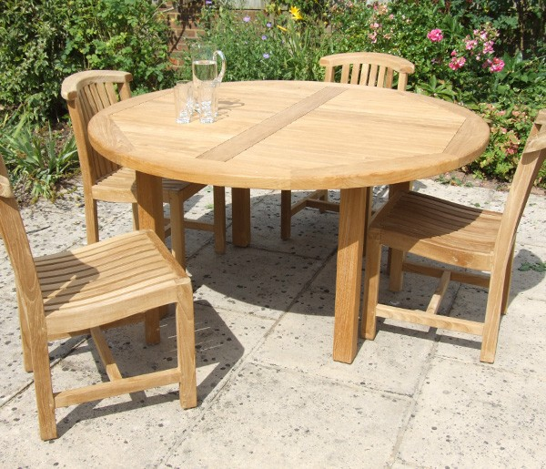 Patio: interesting Garden tables Teak Garden Table, Outdoor Dining