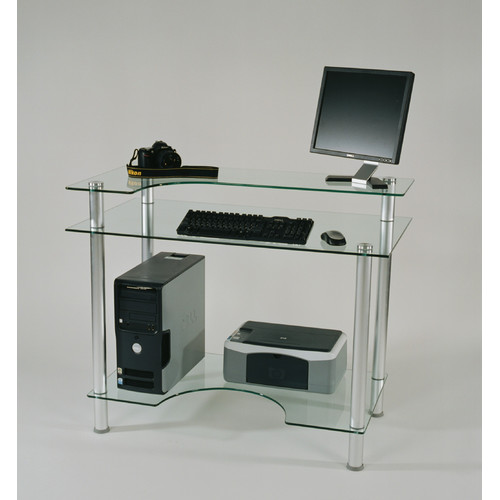 Tier One Designs Glass Computer Desk - Walmart.com