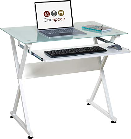 Amazon.com: OneSpace 50-JN1201 Ultramodern Glass Computer Desk White