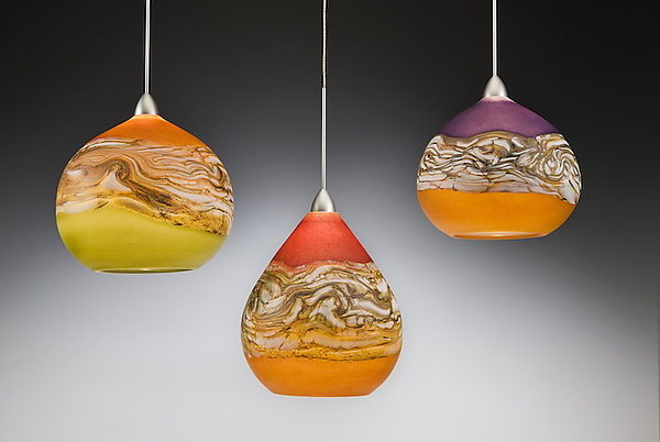 Strata Pendant Lights by Danielle Blade and Stephen Gartner (Art